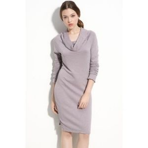 James Perse 3/Large Cowl Neck Sweater Dress Gray